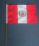 Peru Country Hand Flag - Medium (stitched).
